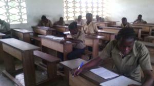 Realizando el examen
